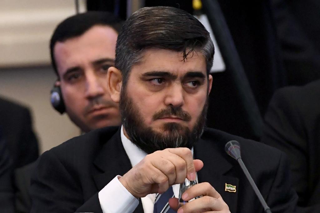 Chief Syrian rebel negotiator Mohammad Alloush of the Jaish al-Islam (Army of Islam) group attends the first session of Syria peace talks at Astana's Rixos President Hotel on January 23, 2017 (AFP Photo/KIRILL KUDRYAVTSEV)