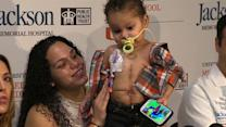 Three-year-old recovering from rare five-organ transplant