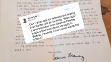 Team Twitter reunites woman with a letter sent to her by a famous poet