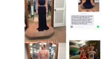 Woman sends text to wrong number for second opinion on her dress, gets a magical response