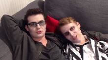 WATCH: EastEnders' Ben and Jay Mitchell cuddle as they sing Only Fools And Horses theme tune