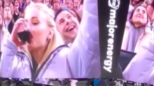 Sophie Turner Pounded Wine on a Jumbotron and the Jonas Brothers Can't Deal