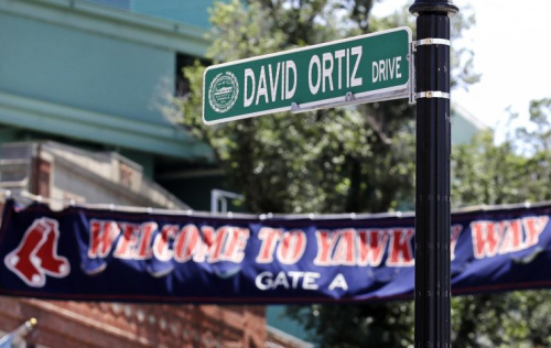David Ortiz had a street named after him in Boston. (AP Photo)