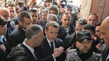 Macron discute com policiais israelenses na Cidade Velha de Jerusalém