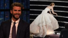 Liam Hemsworth on Jennifer Lawrence: 'She's Terrible at Walking'