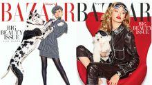 Gigi Hadid y otros famosos que posaron con animales en una portada