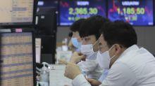 Asian stocks mixed ahead of U.S. Fed chair's speech