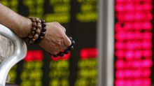 Asian shares fall as China data points to slowing growth