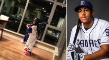 Yangervis Solarte playing baseball with his daughters is genuinely adorable