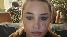 Amanda Bynes resurfaces on Instagram with what appears to be a large face tattoo