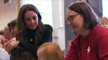 Duchess of Cambridge, Kate Middleton, attends baby sensory class in Cardiff