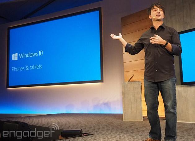 Microsoft finally shows off Windows 10 for phones and small tablets