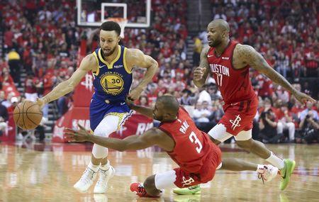 5e6627481f3 NBA  Playoffs-Golden State Warriors at Houston Rockets