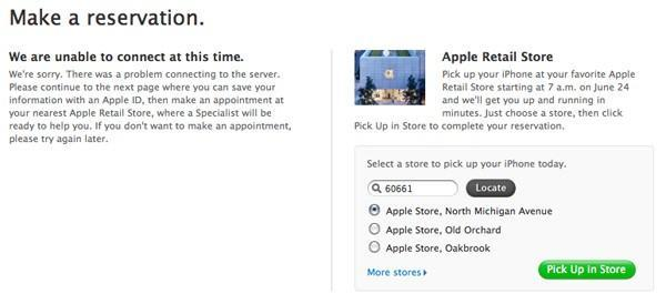 Apple suggesting you head into a store if things aren't working out online