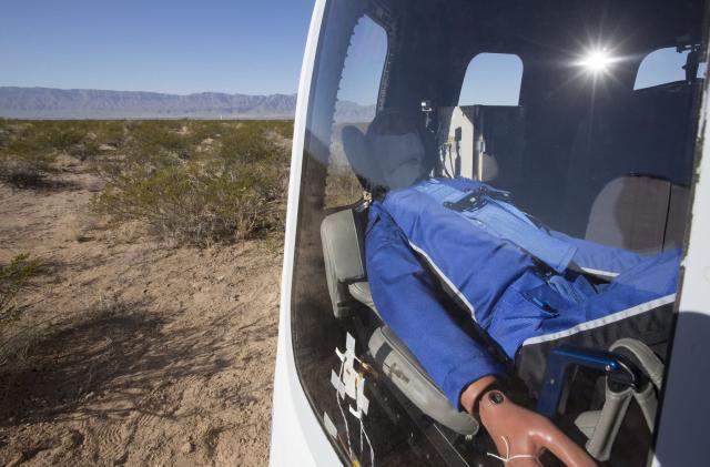 Watch Blue Origin's test dummy experience space tourism