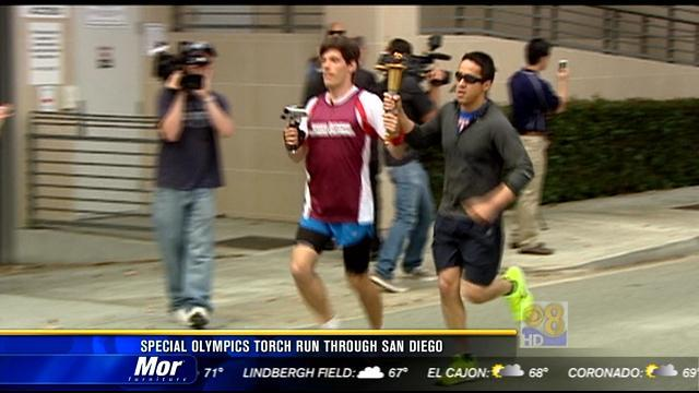 Special Olympics torch run through San Diego