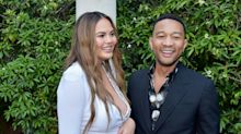 Chrissy Teigen Had a Surprise Baby Shower With 5 Legend-Themed Cakes