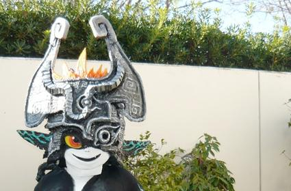 Link and Midna in furry cosplay