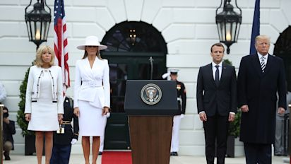 Melania Trump wore a giant white hat and people have opinions