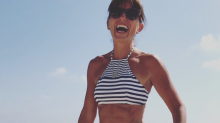 TV host, 49, inspires with first-time thong-bikini selfie