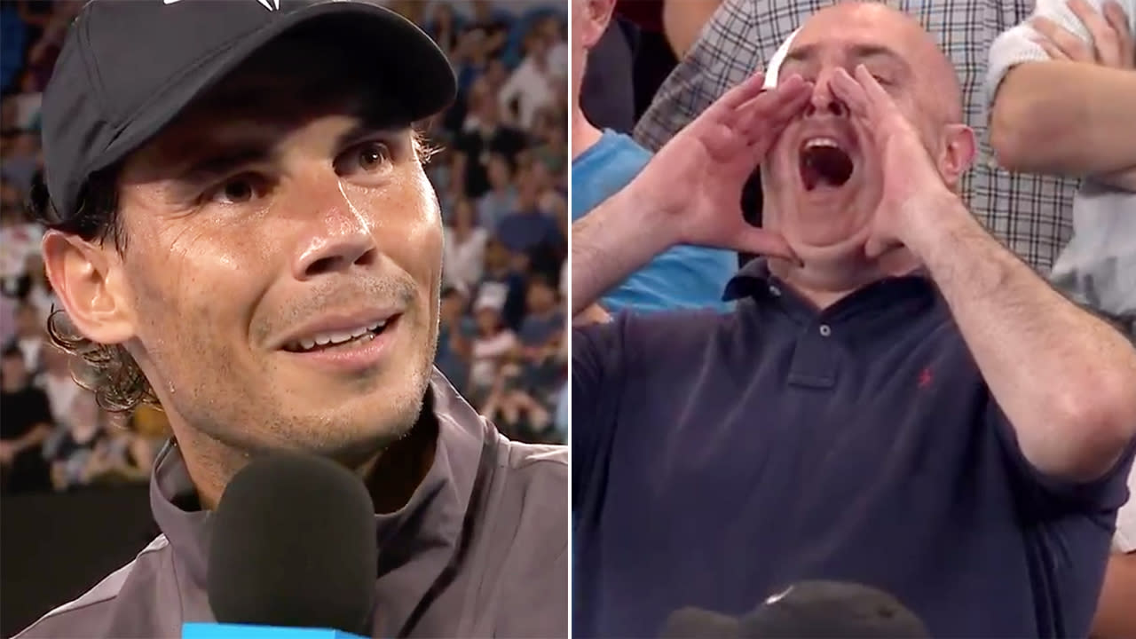 'Are you drinking some tequilas or what?': Nadal burns noisy Aus Open fan