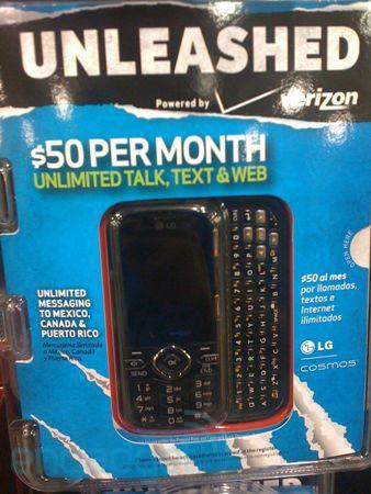 First Verizon Unleashed phone gets pictured, priced at Best Buy