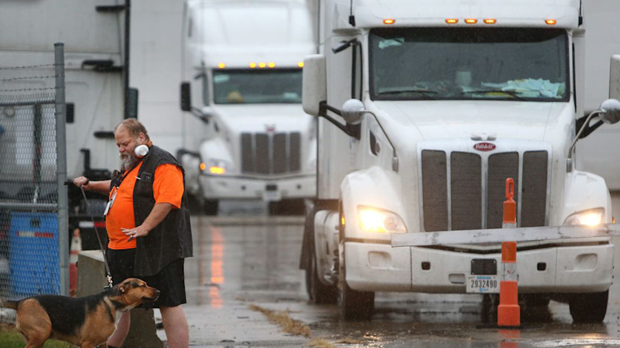 Stranded trucker: 'No idea of how I'm getting home'