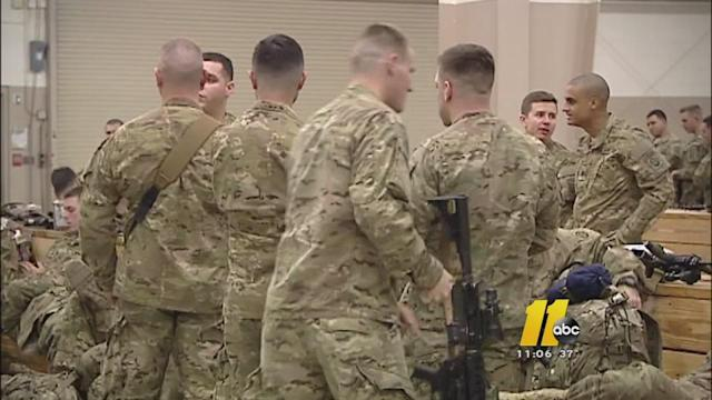 82nd Airborne Division paratroopers departing for Afghanistan