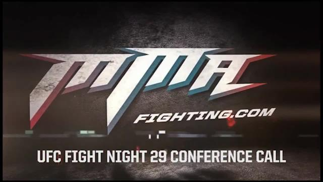 Dana White UFC Fight Night 29 conference call audio