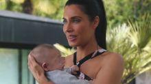 Pilar Rubio, duramente criticada por jugar con su bebé en la piscina