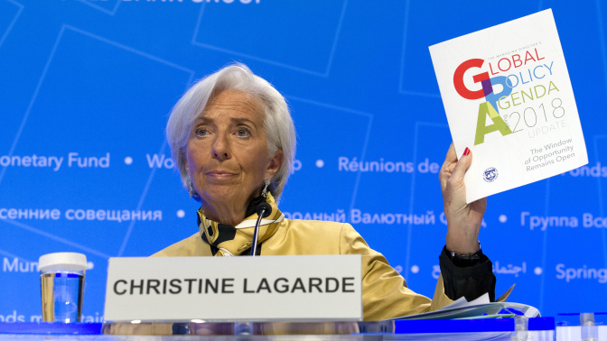 One big theme is permeating the IMF's meeting