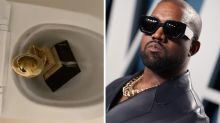Kanye West urinates on Grammy award in bizarre Twitter video