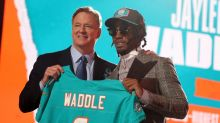 Miami Dolphins Jaylen Waddle is the highest-rated rookie WR in Madden 22