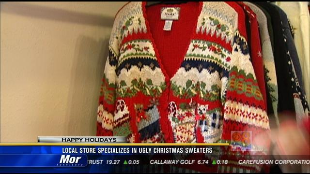 Local store specializes in ugly Christmas sweaters