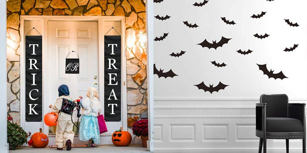 """<p>There's a <a href=""""https://www.goodhousekeeping.com/holidays/halloween-ideas/g421/halloween-decorating-ideas/"""" rel=""""nofollow noopener"""" target=""""_blank"""" data-ylk=""""slk:Halloween decorating style"""" class=""""link rapid-noclick-resp"""">Halloween decorating style</a> for everyone (or should we say <em>every ghoul</em>?). Some like to go all in with haunted house vibes by putting out animated monsters and playing eerie soundtracks. Others prefer to keep things cute and spook-free with sweet jack-o-lanterns and kitschy decor. The good news: There's no right or wrong way to celebrate the spookiest season of them all.<br></p><p>Whatever your holiday style, Amazon has got you covered with an incredible assortment of Halloween decorations for <a href=""""https://www.goodhousekeeping.com/holidays/halloween-ideas/g4602/outdoor-yard-halloween-decorations/"""" rel=""""nofollow noopener"""" target=""""_blank"""" data-ylk=""""slk:indoors and outdoors"""" class=""""link rapid-noclick-resp"""">indoors and outdoors</a>. Browse through this list of the best Amazon Halloween decorations to up your holiday game with skulls, bats, and all kinds of frights. No matter if you're throwing a <a href=""""https://www.goodhousekeeping.com/holidays/halloween-ideas/g565/halloween-party-ideas/"""" rel=""""nofollow noopener"""" target=""""_blank"""" data-ylk=""""slk:Halloween party"""" class=""""link rapid-noclick-resp"""">Halloween party</a> or simply want to add more festive (okay, fright-filled) flair to your space, you're bound to find something that you'll love. Best of all, all of these online finds come with ultra-fast shipping thanks to Amazon Prime. </p>"""