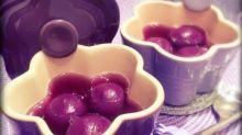 紫薯紅豆湯圓