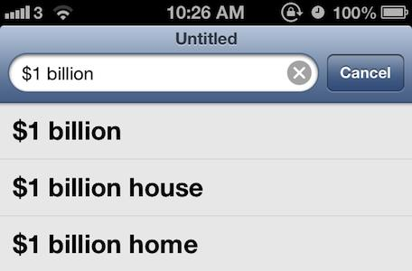Apple may be earning up to $1 billion this year from Google search on iOS devices