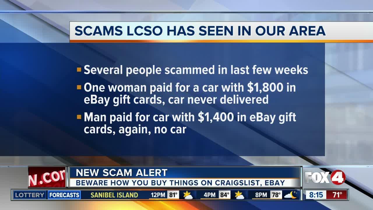LCSO seeing Craigslist car sale scam