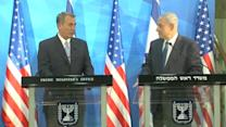 "Israeli PM hosts Boehner, calling for ""better"" Iran deal"