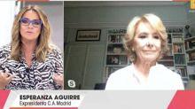 """Esperanza Aguirre cree que el rey Juan Carlos I """"ha salido unos días"""" y que """"volverá pronto"""""""