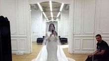 Kim Kardashian Shares Intimate Snaps from Her 2014 Wedding Dress Fitting