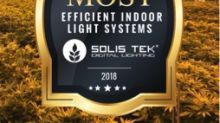 Solis Tek Digital Lighting Receives Award and Accolades from Cannabis Industry and Customers