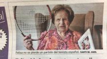 Rafa Nadal tuvo un tierno gesto con una fan de ¡101 años!