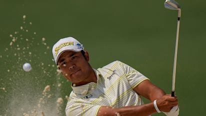 Hideki Matsuyama remains on course for maiden major title at Augusta
