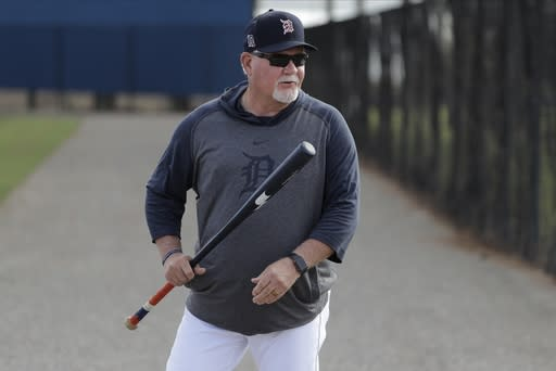 FILE - In this Feb. 15, 2020, file photo, Detroit Tigers manager Ron Gardenhire arrives for a spring training baseball workout in Lakeland, Fla. Gardenhire announced his retirement prior to Detroits game against the Cleveland Indians on Saturday, Sept. 19,2020. (AP Photo/Frank Franklin II, File)