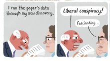 Stephen Collins on both sides of a story – cartoon