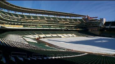 Target Field Starts Removing Snow