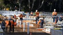 Surprise spike in construction activity