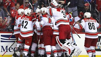 Hurricanes stun defending champs in Game 7