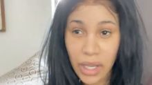 Cardi B responds to critics who say she looks 'weird' without makeup: 'I feel comfortable'